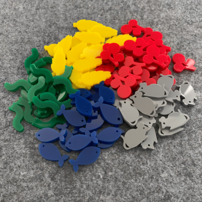 Pile of Food Tokens to upgrade the Wingspan Board Game and Expansion